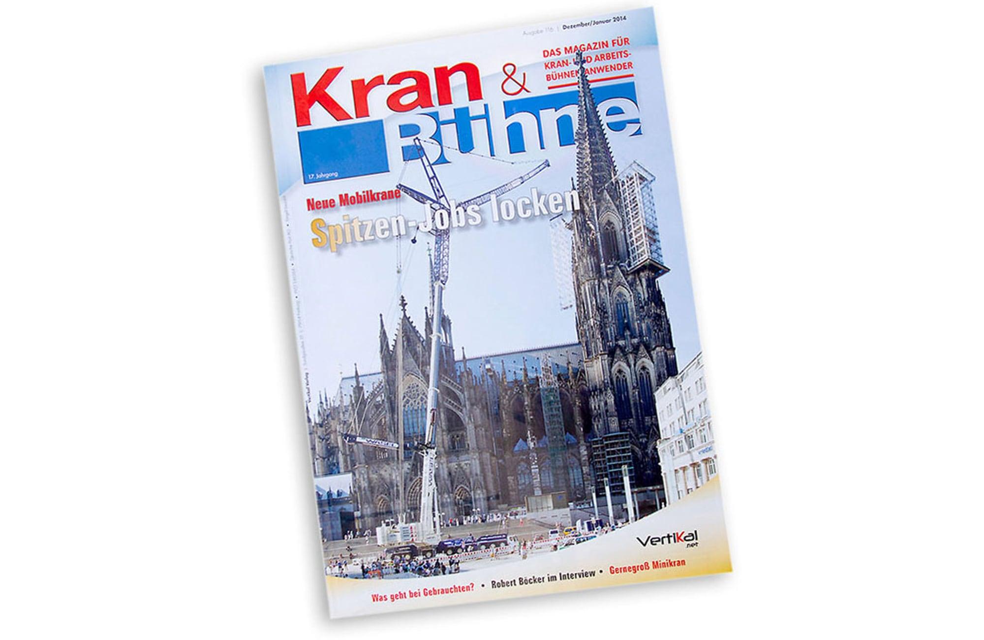 Titelseite für Fachmagazin