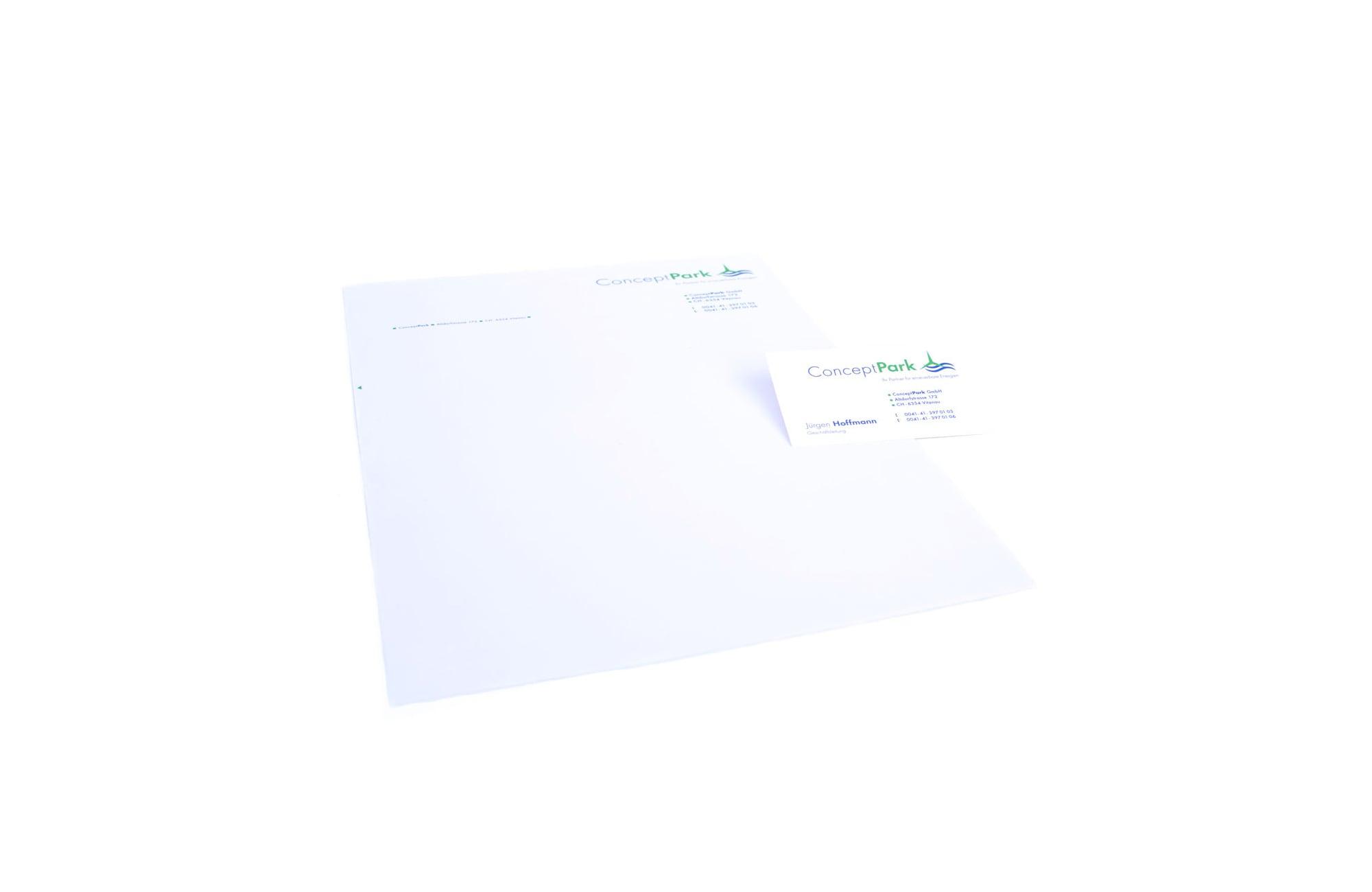 Briefpapier, Mitarbeiterkarte
