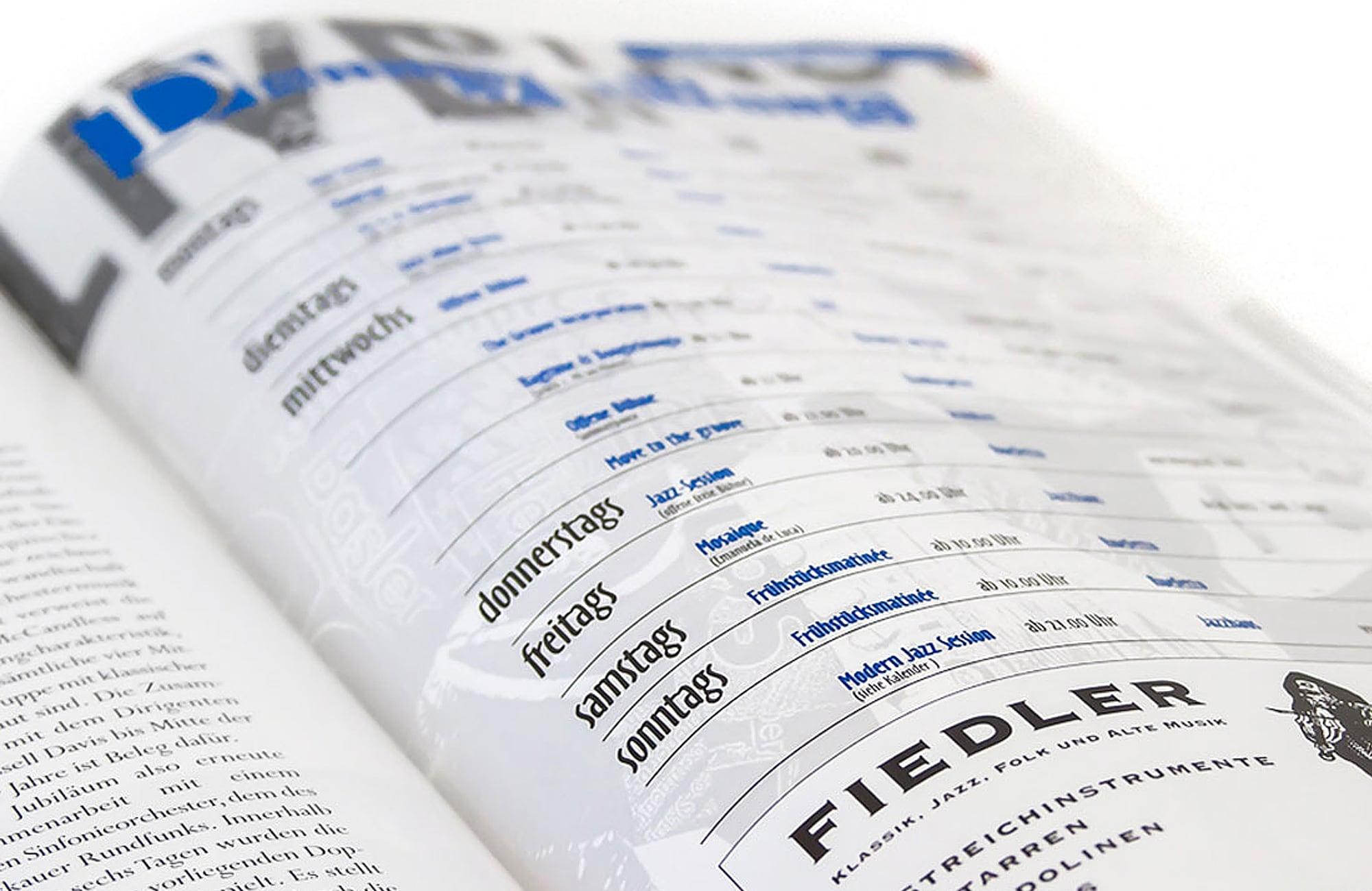 Kalenderseite für Journal