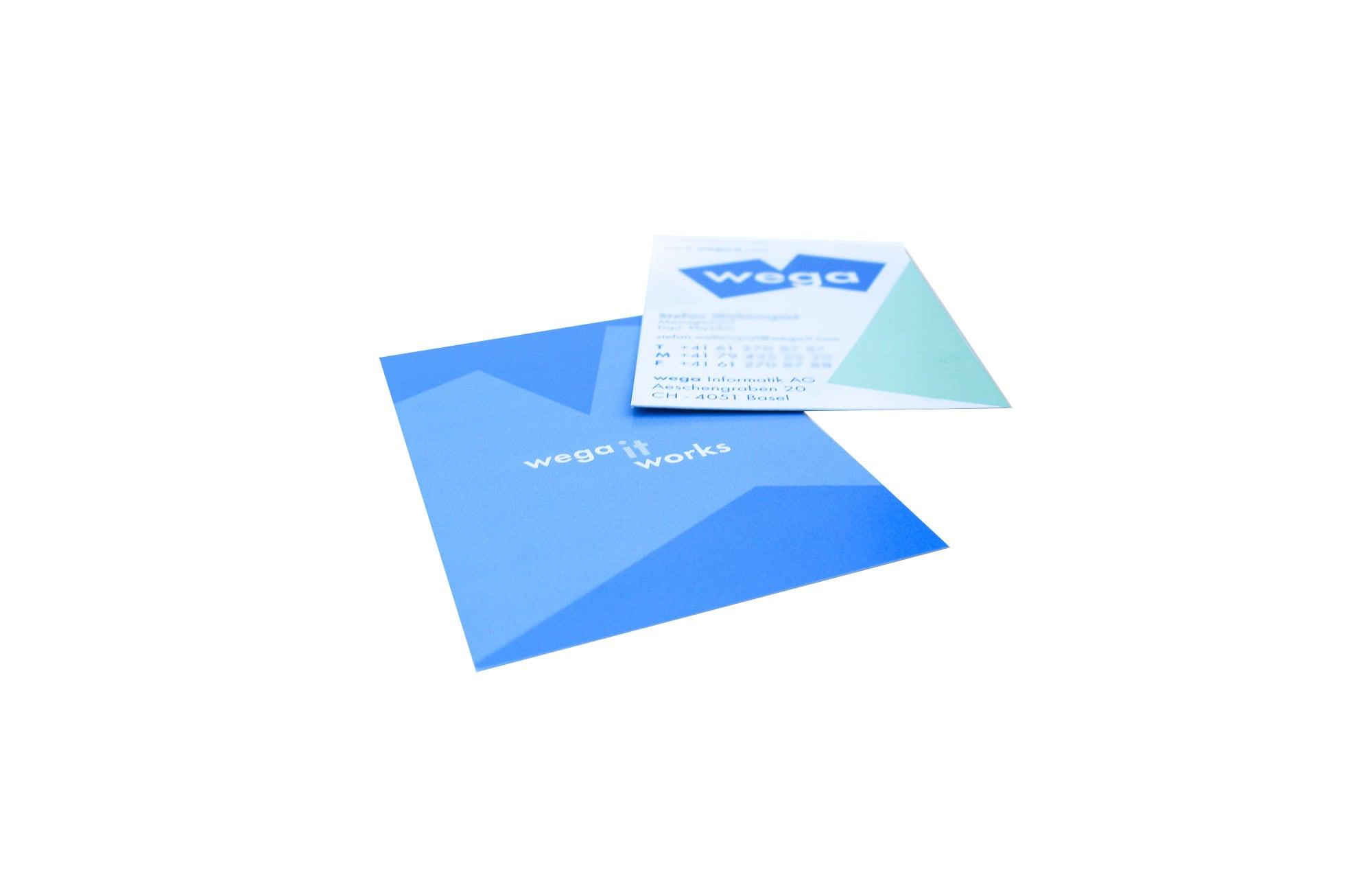 Re-Design von Unternehmens-Visitenkarten